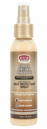 African Pride Black Castor Miracle Anti-Humidity Heat Protectant Spray - 4 Oz