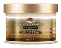 African Pride Black Castor Miracle Prep & Leave-In Moisture Butter - 8 Oz